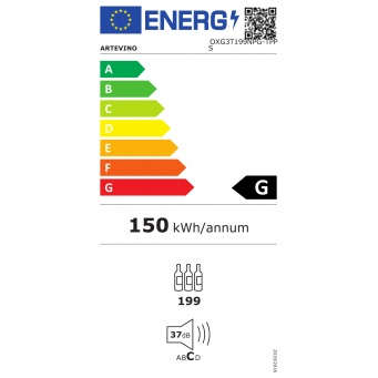 artevino-oxg3t199npg-energy-label